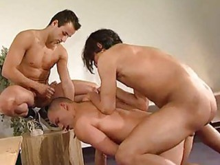 Gay anal threesome with perfect Turkish guys
