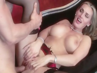 Shaved whore Tanya Tate spreads her cheeks and feels the awesome dick in her