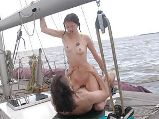 Hardcore Outdoor Pigtail Riding Small Tits
