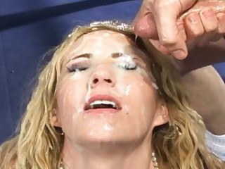 Hillary Scott receives a fresh load of cum swapped on her juicy mouth