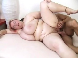 Fatty lets him slam into her cunt