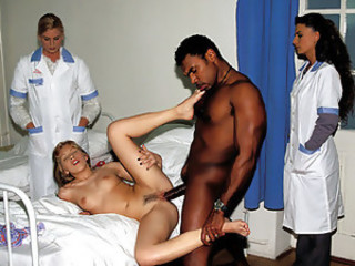 Big cock Doctor Hardcore Interracial Teen Uniform