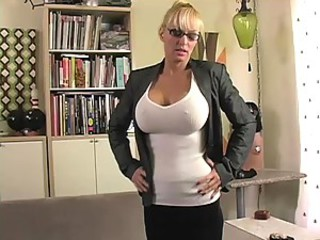 Amazing Big Tits Blonde Glasses MILF
