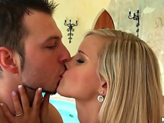 Blonde European Kissing