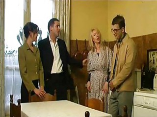 European French Groupsex Swingers Wife