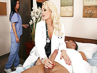 When a patient suffering from severe frostbite to his cock lands in the E.R., Monica must performs emergency deep oral resuscitation to his affected region in order to prevent amputation.