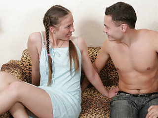 Pigtail Skinny Teen Young
