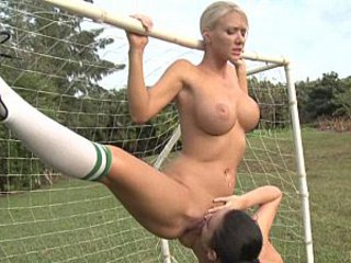 Cheerleader Flexible Lesbian Licking Natural Outdoor Uniform