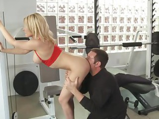 Fascinating big titted blonde doll Madison Ivy has gorgeous body. Lucky older man gives his tight neatly shaved pussy a try. She enjoys his mature dick in her young pussy. She rides his rod and then gets doggystyled.