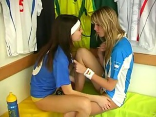 Heather Wild & Veronika Lindnerova Lesbian Sex After Soccer Match