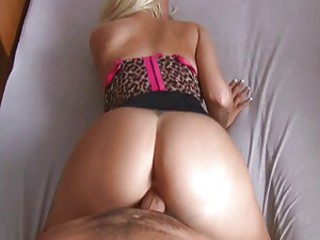 Naughty blondie gets loads of cum