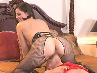 Sexy Brunette Wears Black Lingerie As She Has Hardcore Sex