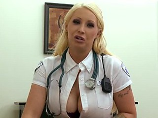 Super Busty Blonde Candy Manson Gets Fucked In a Paramedic Uniform