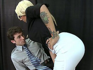 He worships her natural tits