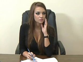 Amazing Brunette Office Secretary