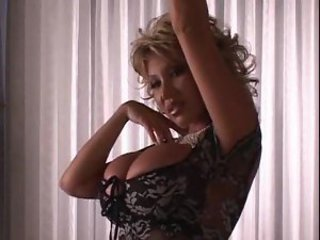 Huge titty Asian blonde milf dancing