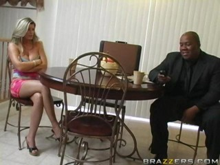 Big Tits Blonde Interracial MILF Pornstar