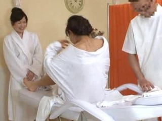 Oil Massage Daughter and Mom-...