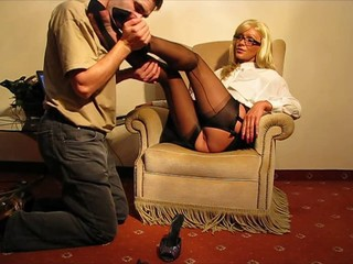 Nylon Stockings Foot and...