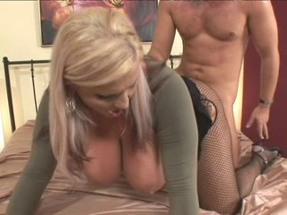 Big Tits Blonde Clothed Doggystyle Fishnet Hardcore Pantyhose