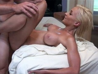 Lexi Swallow Busty Blonde Massage