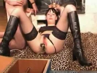 Kinky mom dildo machine fucked