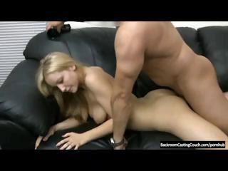 Blonde Is On The Casting Couch And Shows What She Can Do With Anal