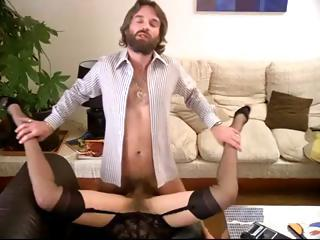Hairy Hardcore Lingerie Pornstar Stockings