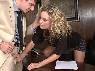 Babe Blonde Office Pornstar Secretary