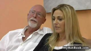 Blonde Haired Milf Jazella Moore Loves It When He