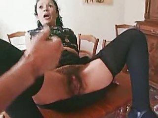Latino Granny Tries A Dp