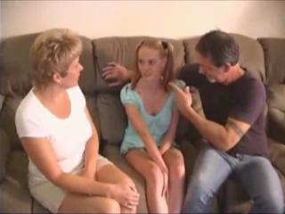 Daddy Daughter Family Mom Old and Young Pigtail Teen