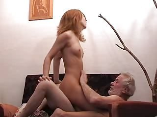 Daddy Daughter Older Old and Young Riding Small Tits Teen