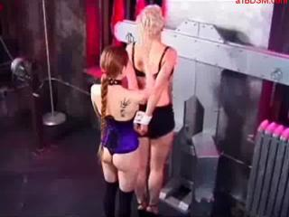 Busty Girl Blindfolded Getting Tied To Cross Whipped...