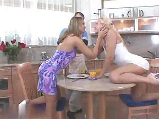 Tiffany Diamond And Sandy Kitchen Sex