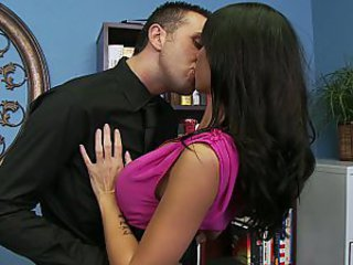 Big Tits Brunette Kissing MILF Office Pornstar Secretary