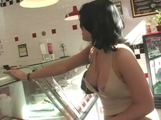 Amateur Big Tits Brunette Nipples Public
