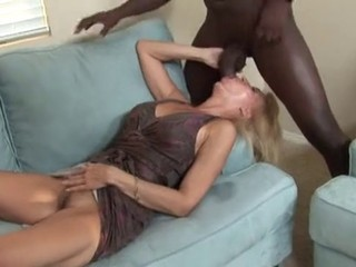 Blonde Blowjob Cute Interracial MILF Pornstar