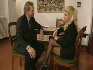 Blonde European Hardcore Italian Pornstar Stockings