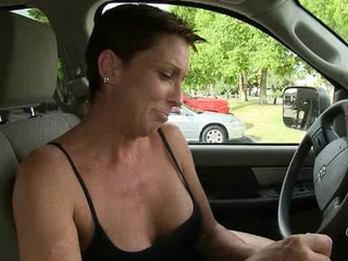 Brunette Car Gloryhole Mature Outdoor