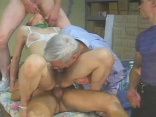 Chinese T-girl receives 3 guys -
