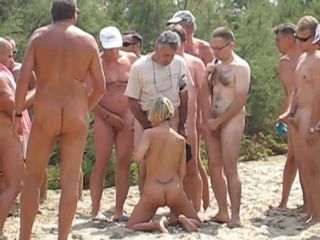Beach Blowjob Gangbang Outdoor