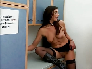 Brunette European German Mature Natural Stockings