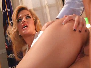 Babe Blonde Hardcore Office Pornstar