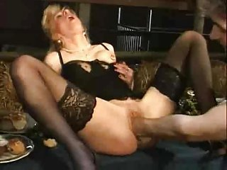 Blonde Fisting Lingerie Mature Stockings