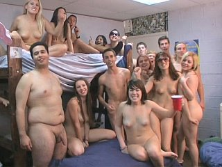 Amateur Nudist Orgy Party Student