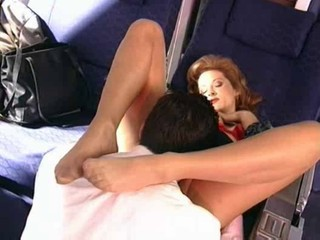 Milf Fucked On An Airplane