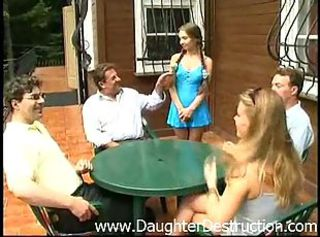 Daddy Daughter Family Pigtail Teen Young