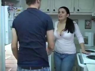 Amateur Big Tits Brunette Kitchen Maid MILF