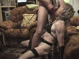 Horny Dude Cumming In Crossdresser Mouth